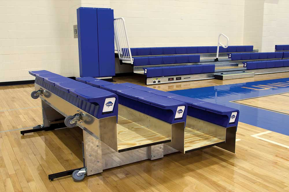 R M Huffman Gym Bleachers Gymnasium Seating Team Seating